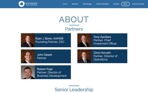 Screenshot of About Page fusioncm.com - About Fusion Capital Management - captured Nov. 25, 2016