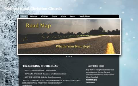 Screenshot of Home Page visittheroad.org - McCord Road Christian Church - captured Jan. 25, 2015