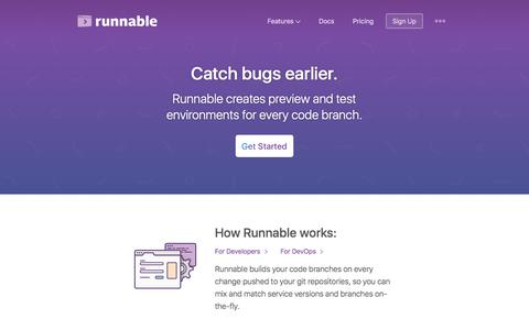 Runnable: Catch bugs earlier.