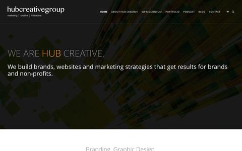 Screenshot of Home Page hubcreativegroup.com - Digital Marketing, Branding, Website Design and Hosting - HUB Creative Group - captured May 23, 2017
