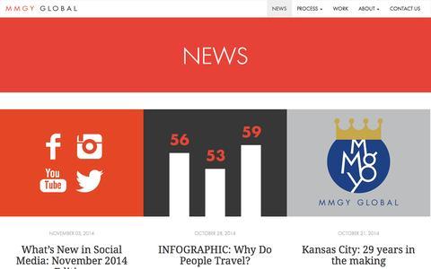 Screenshot of Press Page mmgyglobal.com - News   MMGY Global   Travel, Tourism & Hospitality Trends & Articles - captured Nov. 3, 2014
