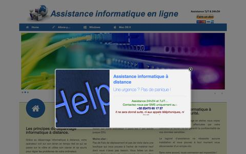 Screenshot of Home Page jorger.be - Assistance informatique à distance - captured Sept. 22, 2015