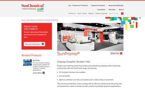 Inks | SunPromo | Sun Chemical