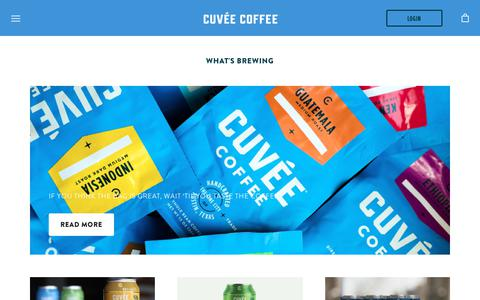 Screenshot of Press Page cuveecoffee.com - What's Brewing – Cuvée Coffee - captured Nov. 5, 2018