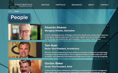 Screenshot of Team Page newground.com - People   Welcome to NewGround - captured Nov. 3, 2014