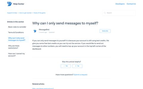 Why can I only send messages to myself? – Support & Help