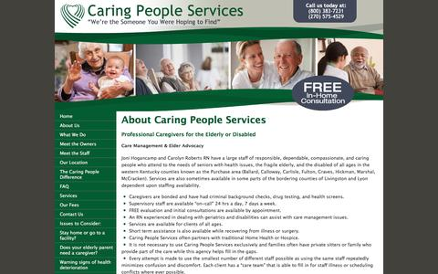 Screenshot of About Page elderly-care.biz - Caring People Services-Professional Caregivers - captured June 24, 2016