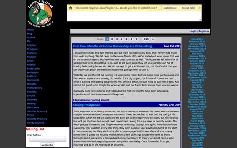 Screenshot of Blog lepslair.com - General | LepsLair - captured Sept. 30, 2014
