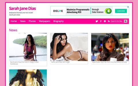 Screenshot of Press Page sarahjanedias.net - News - captured May 31, 2016