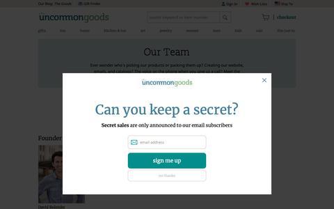 Screenshot of Team Page uncommongoods.com - Staff Bios | UncommonGoods - captured Feb. 24, 2019