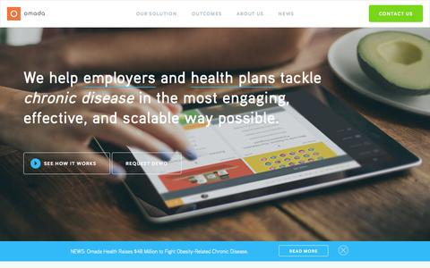 Screenshot of Home Page omadahealth.com - Digital Health Program  |                   Omada Health - captured Oct. 1, 2015
