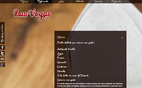 Screenshot of Menu Page lasvegasonline.it - Menu - captured Oct. 3, 2014