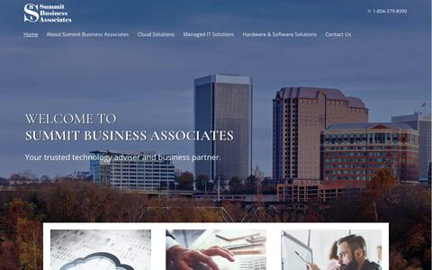 Screenshot of Home Page summitbiz.net - Managed IT Services | Business Cloud Solutions | Richmond, VA - captured Oct. 24, 2017