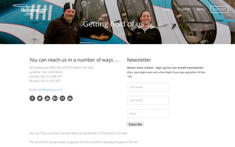 Screenshot of Contact Page heliview.co.nz - Contact - www.heliview.co.nz - captured Jan. 28, 2016