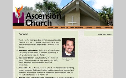 Screenshot of Signup Page ascension-orlando.org - Connect - captured Oct. 2, 2014