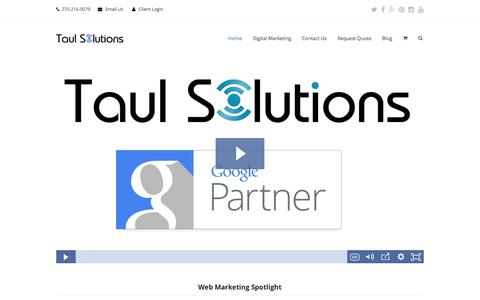 Screenshot of Home Page taulsolutions.com - Digital Marketing Agency | Network Solutions | Taul Solutions - captured June 11, 2017