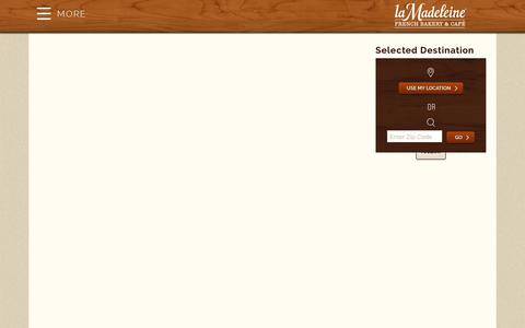 Screenshot of Locations Page lamadeleine.com - Locations - La Madeleine - captured Oct. 9, 2017