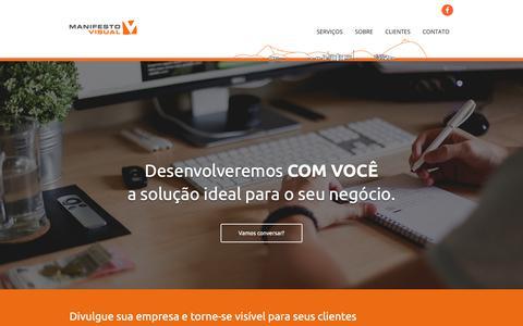 Screenshot of Home Page manifestovisual.com.br - Comunicação, Design e Gestão de Mídias Sociais | Manifesto Visual - captured Nov. 4, 2018