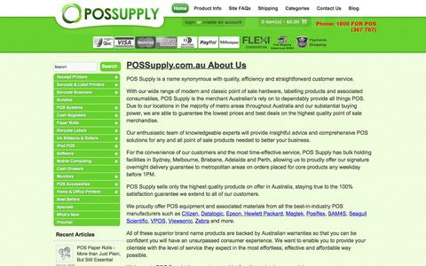 Screenshot of About Page possupply.com.au - About Us - captured Jan. 23, 2016