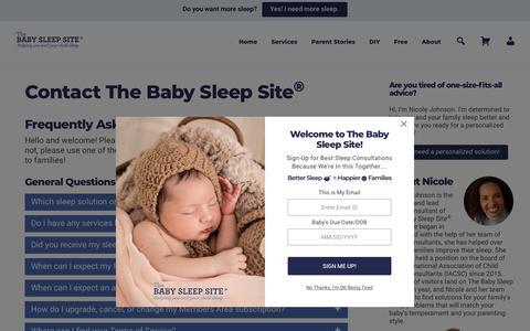 Screenshot of Contact Page babysleepsite.com - Contact The Baby Sleep Site®   The Baby Sleep Site - Baby / Toddler Sleep Consultants - captured Feb. 17, 2020