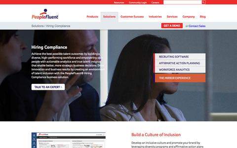 Hiring Compliance | PeopleFluent