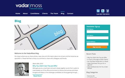 Screenshot of Blog vadarmoss.com - Blog | Vadarmoss - captured Oct. 27, 2014