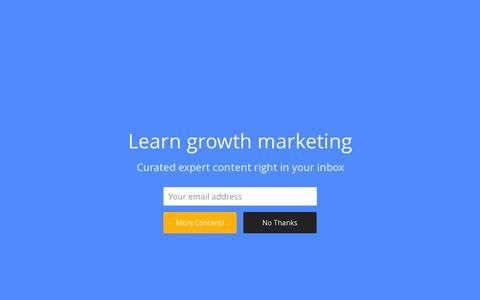 Screenshot of Blog referralsaasquatch.com - Growth - The Referral SaaSquatch Blog - captured Feb. 8, 2016