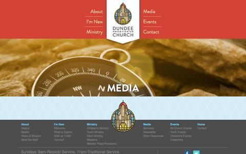 Screenshot of Press Page dpcomaha.org - Dundee Presbyterian Church |        Media - captured Oct. 5, 2014
