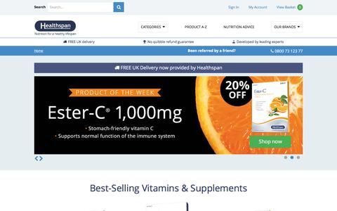 Buy vitamins online from The UK's Leading vitamins and Supplements Supplier