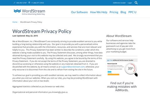 WordStream Privacy Policy | WordStream