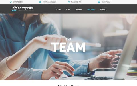Screenshot of Team Page ecropolis.com - Our Team – Ecropolis - captured July 16, 2018