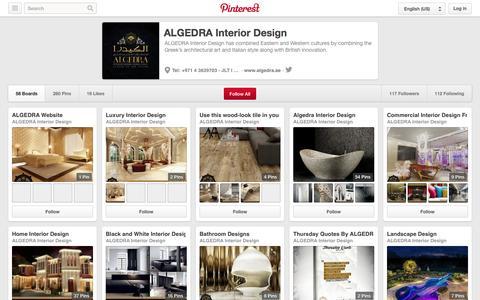 Screenshot of Pinterest Page pinterest.com - ALGEDRA Interior Design on Pinterest - captured Oct. 23, 2014