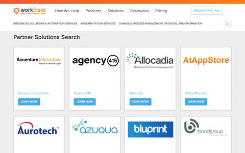 Partner Solutions Search