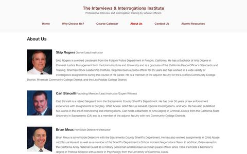 Screenshot of About Page getconfessions.com - About Us - The Interviews & Interrogations Institute - captured Nov. 26, 2016