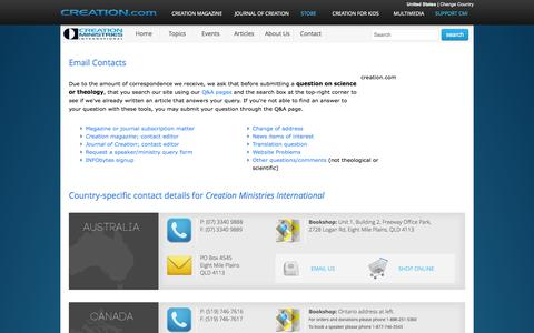 Screenshot of Contact Page creation.com - Worldwide Contact Information - creation.com - captured Sept. 23, 2014