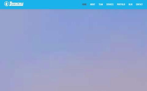 Screenshot of Home Page invinciblecreative.com - Invincible Creative - captured Sept. 30, 2014