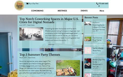 Screenshot of Blog freerangeoffice.com - Free Range Life   Blog - captured June 6, 2017