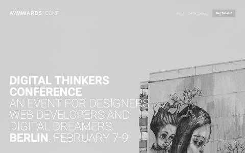 Awwwards Conference - An event for UX / UI Designers and Web Developers