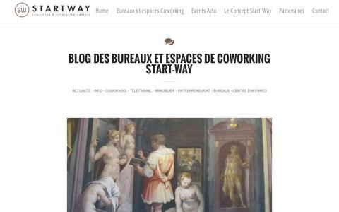 Screenshot of Blog start-way.com - SW-  Blog des Bureaux et Lieux de Travail Mutualisés - Coworking - captured Aug. 18, 2016