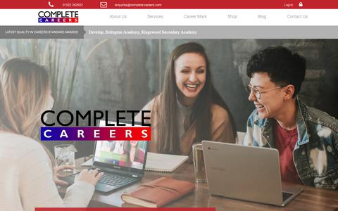 Screenshot of Home Page complete-careers.com - Complete Careers - Empowering people to make successful transitions! - captured Dec. 5, 2018