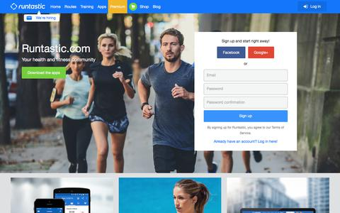 Screenshot of Home Page runtastic.com - Runtastic: Running, Cycling & Fitness GPS Tracker - captured Aug. 16, 2017