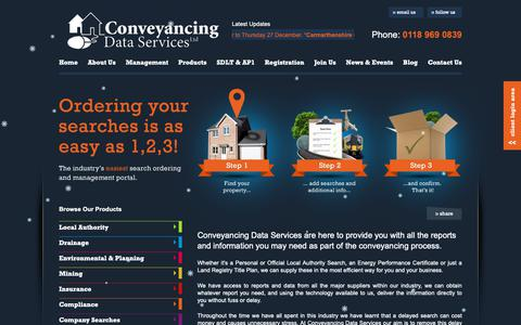 Screenshot of Products Page conveyancingdata.com - Conveyancing Data Services - captured Dec. 15, 2018