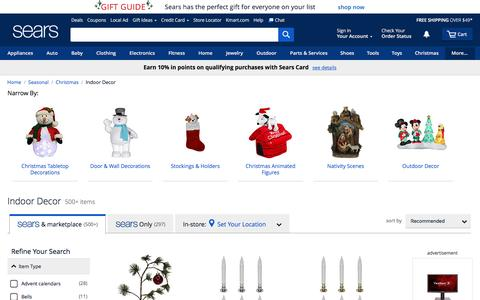 Indoor Christmas Decorations - Sears