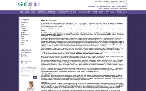 Screenshot of Terms Page golf4her.com - Terms - captured Sept. 30, 2014