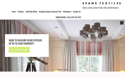 Screenshot of Case Studies Page evans-textiles.com - Case Studies - Evans Textiles - captured Sept. 29, 2018