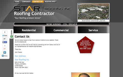 Screenshot of Privacy Page Contact Page starroofingaz.com - Contact Us - Roofing Contractor - captured Oct. 26, 2014