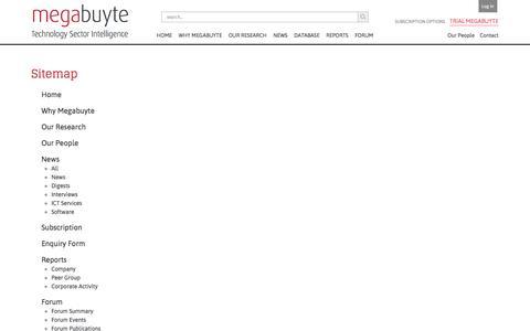 Screenshot of Site Map Page megabuyte.com - Sitemap | Megabuyte - captured June 10, 2017