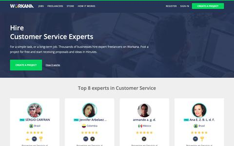 Screenshot of Support Page workana.com - 8 Best Customer Service Experts - December 2018 - captured Dec. 7, 2018