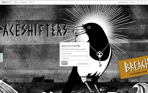 Screenshot of Login Page chordify.net - Sign in - Chordify - captured Sept. 18, 2014