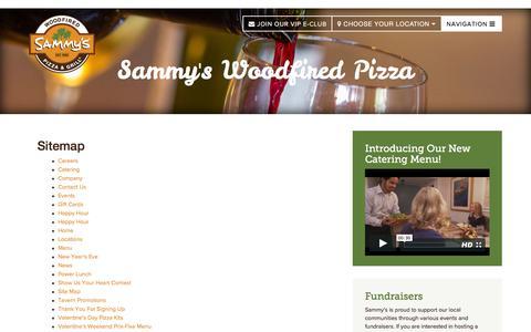 Screenshot of Site Map Page sammyspizza.com - Site Map | Sammy's Woodfired Pizza - captured Feb. 4, 2016